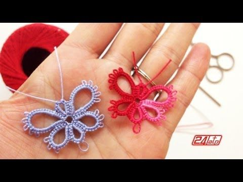 Chiacchierino Ad Ago - 24˚ Lezione Come Fare Una Farfalla - Tutorial Tatting Make a Butterfly