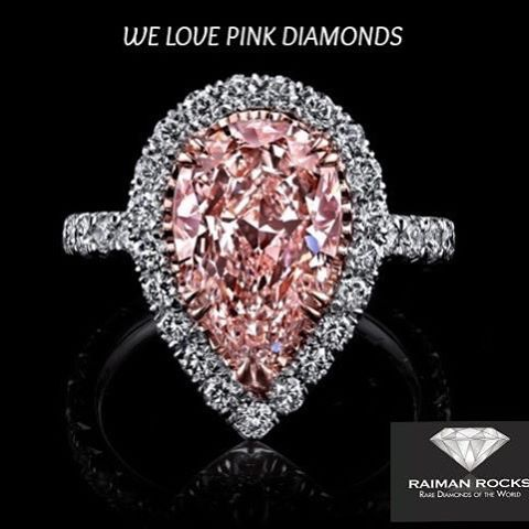 We sell Diamonds - specializing in Large & Natural Fancy color Diamonds. We also BUY diamonds from the public- immediate cash transaction! WE LOVE PINK DIAMONDS#diamond #diamonds #love #pinkdiamond #engagement #anniversary #rings #ring #jewelry #luxury #raimanrocks #wow