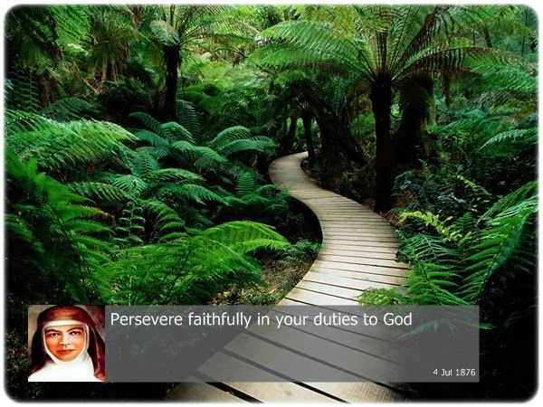 Persevere faithfully in your duties to God