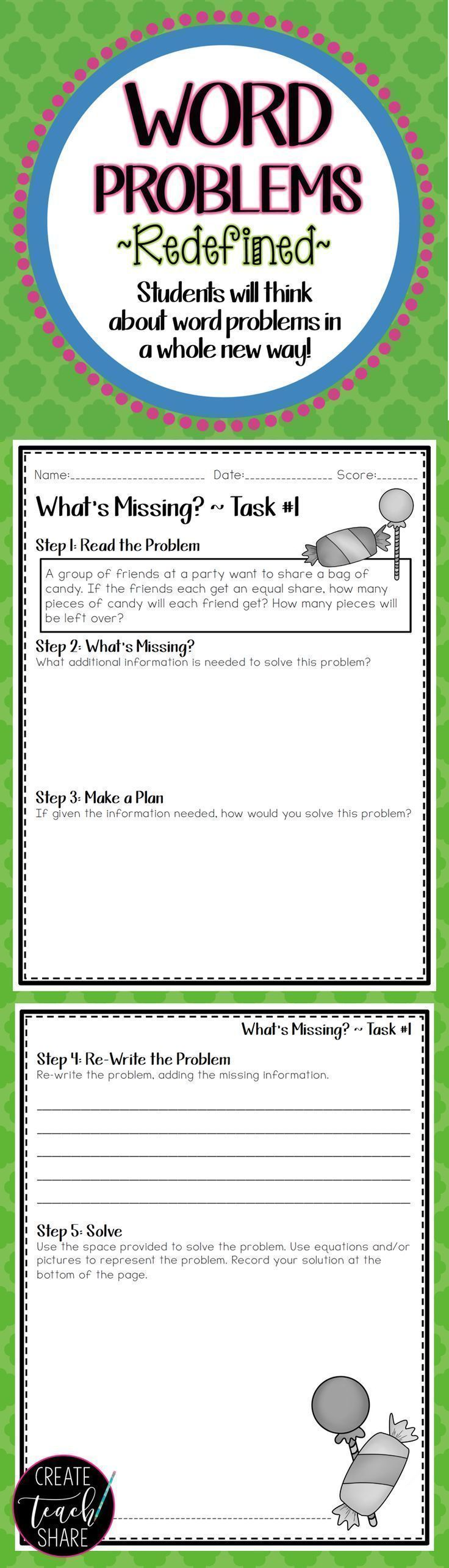 I was looking for strategies to increase student understanding of word  problems. This resource has