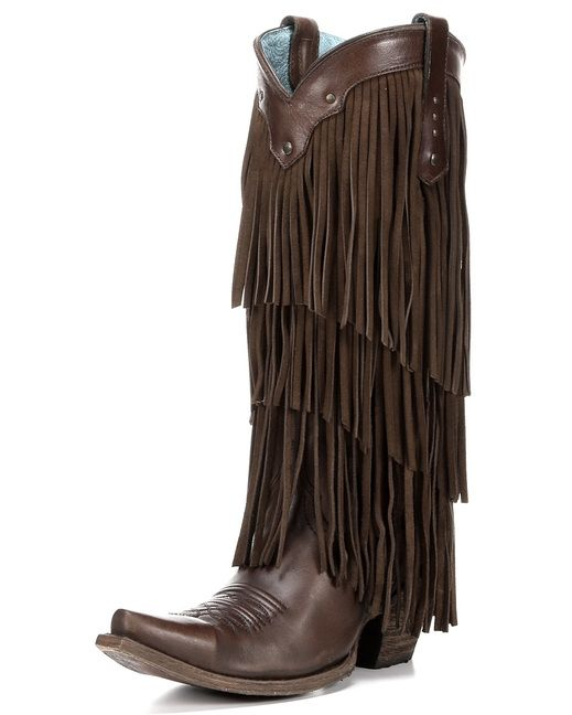 Womens Sierra Tan Fringe Tall Top Boot C2700 Ljt Fest