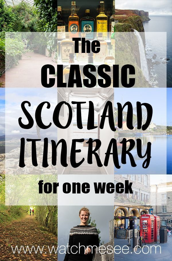 One week in Scotland might be barely enough to scratch the surface, but let's see how many highlights you can see with this classic Scotland…