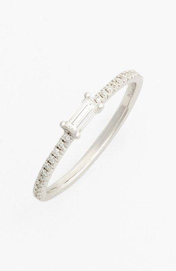 Bony Levy Baguette Diamond Stack Ring (Nordstrom Exclusive) | Nordstrom