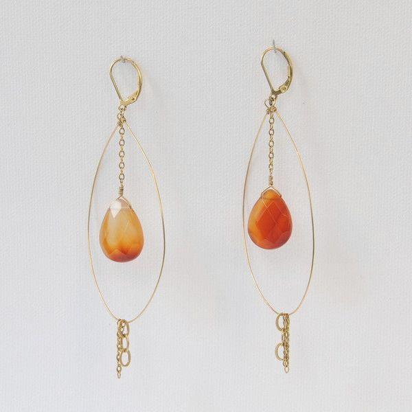 C-Raine Yellow Opal Earrings