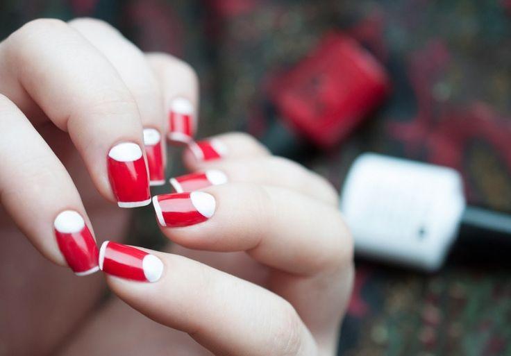 awesome Модный красный френч на ногтях (50 фото) — Изысканная утонченность