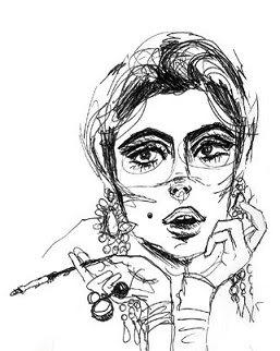 Edie Sedgwick Caricature