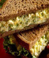 Λάιτ σάντουιτς με αυγοσαλάτα