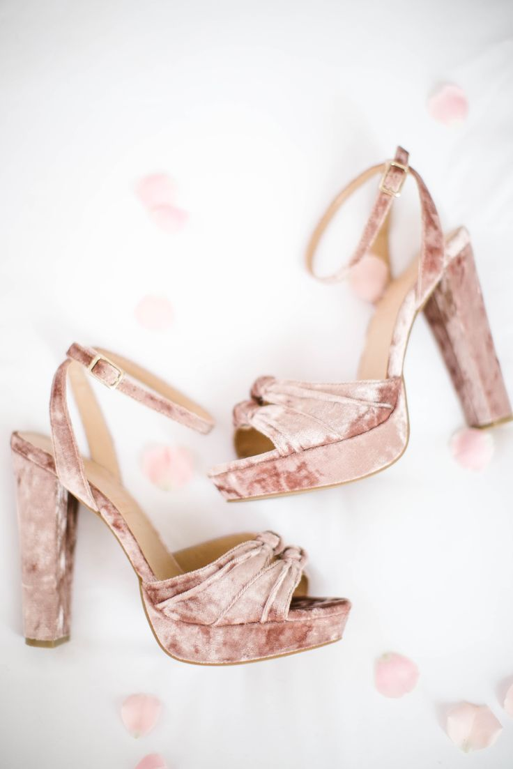 LC Lauren Conrad Runway Collection Velvet Platform High Heels | Available at Kohl's