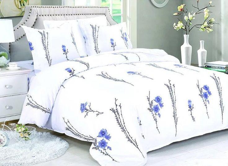 Biele posteľné obliečky v rozmere 160x200 cm