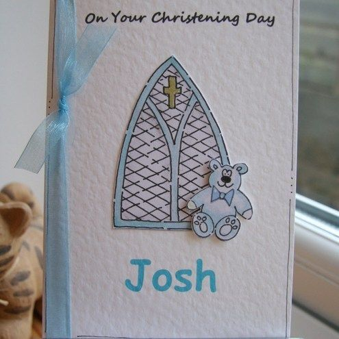 Personalised Baby Christening Card - Boy or Girl £2.50