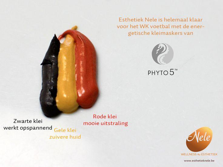 Naast je huid verzorgen kan je ook een Belgische vlag maken met de energetische kleimaskers van PHYTO 5!