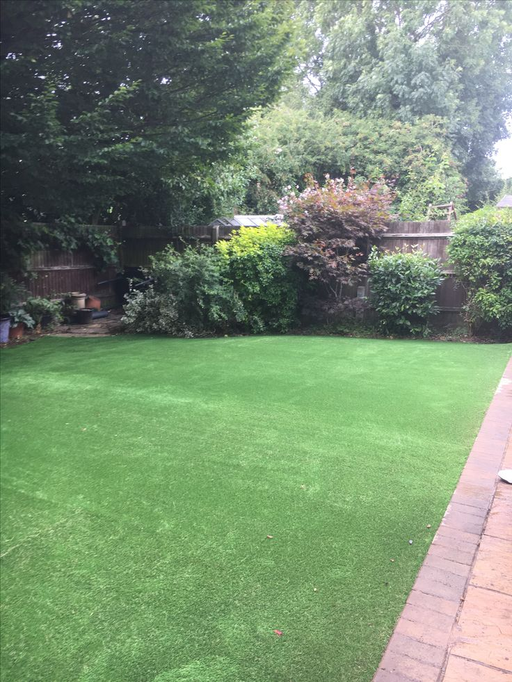 using artificial grass in your garden will make it look lush and green all year round