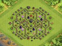 TH8.5 base for for TH9 newbies TH 9 Clash of Clans Base Layout