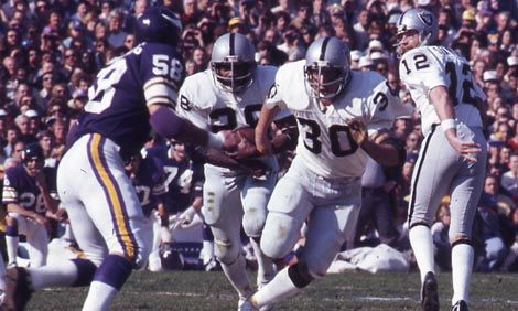 Super Bowl XI | January 9, 1977 | Played at the Rose Bowl, this was the Oakland Raiders first Super Bowl victory, beating the Minnesota Vikings 32-14. Fred Biletnikoff won the MVP, the only receiver to win the award despite not gaining 100 yards in the game. #NFL #SuperBowl