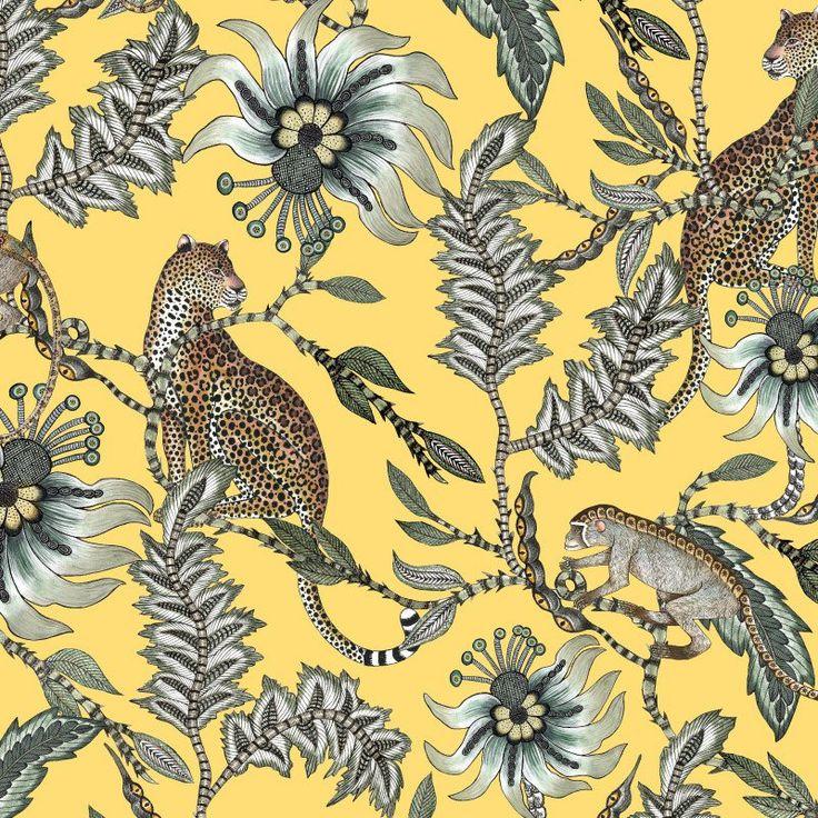 Monkey Bean Butter Dust Fabric – Ardmore-Design