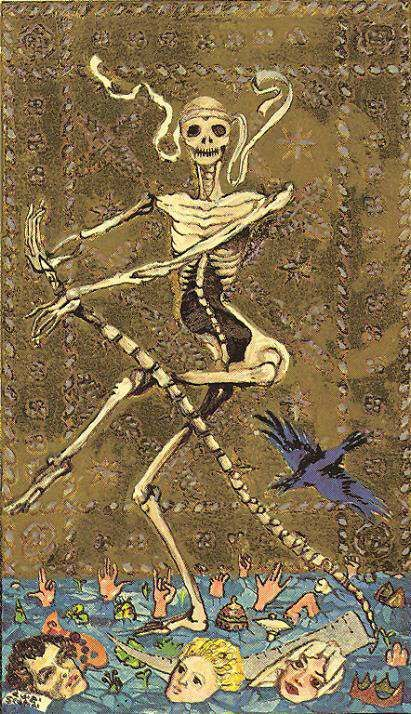 Death Tarot Card Art | The Medieval Scapini Tarot Deck | Oracle Cards | Divination