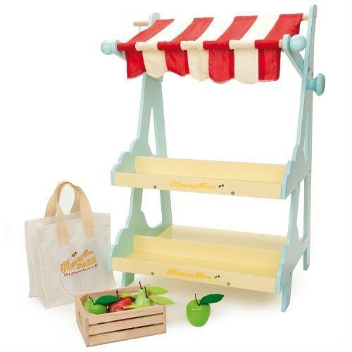 puesto para el supermercado de juguete de madera 75 euros