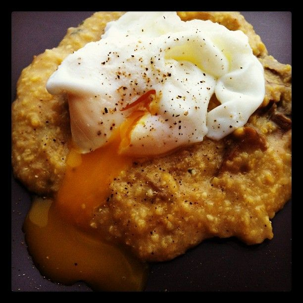 Porcini Polenta with Wild Mushrooms and Poached Egg - an upscale twist ...