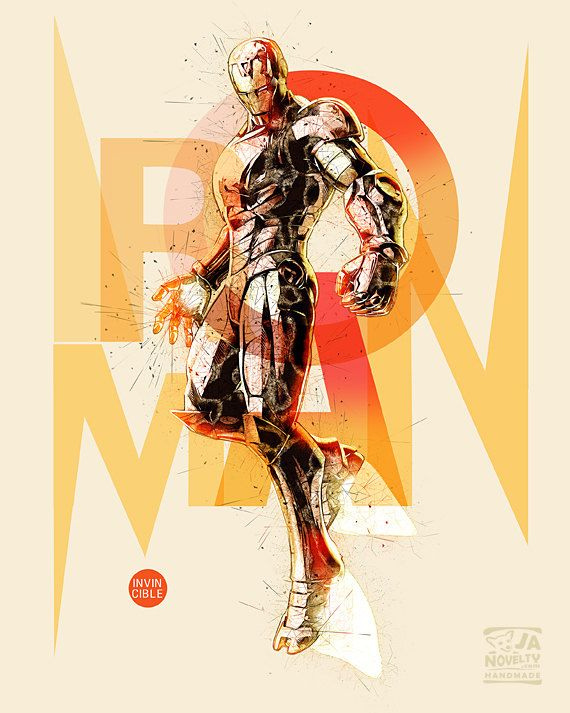 Iron Man Poster, The Avengers Marvel Comics by JAnoveltyDeSign