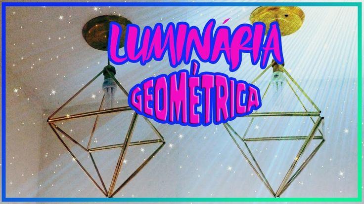 Diy:: Luminária Geométrica com canudinhos - Faça você mesmo luminária diamante|Tatiane Xavier