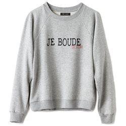 'Je Boude' Cotton Mix Sweatshirt R essentiel - Sweatshirts & Hoodies
