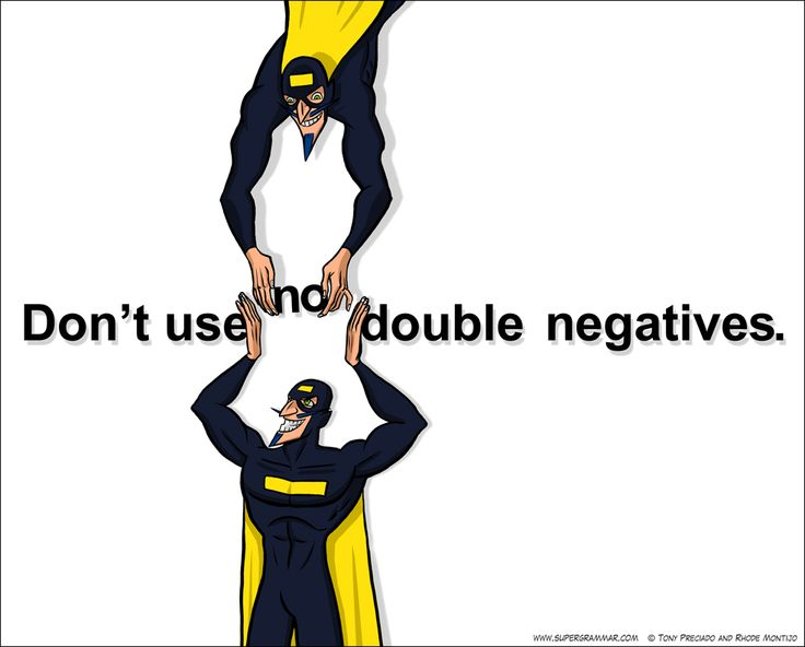 Teach double negatives from this page