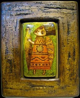 Картина «Ангел с кувшином», Картина Павел Николаев, Павел Николаев наив…