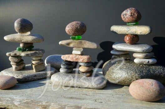 Rock inukshuks,  inukshuk art,  stone art,  rock art,  beachglass art,  seaglass art,  etsy,  BeachMemoriesByJools , etsy.com,