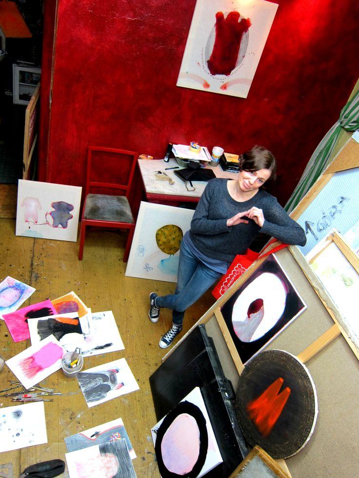 Artist' studio justynaadamczyk.com