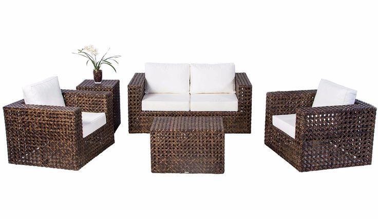conjunto de sofá canada em alumínio e fibra sintética