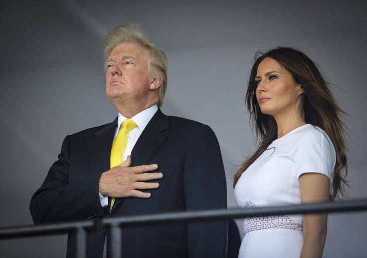 Melania refuses to pledge to the flag of USA and this isn't the first time!! She did it again at that Sham Inaugural Circus!! If Michelle Obama had done that...oh wait!! They Crucified Her Anyway!!