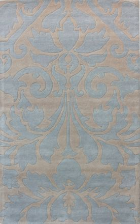 Modern Damask Light Blue Rug Not My Usual Taste At All But Placed In The Right Room Colors This Works For Home Pinterest Damasks