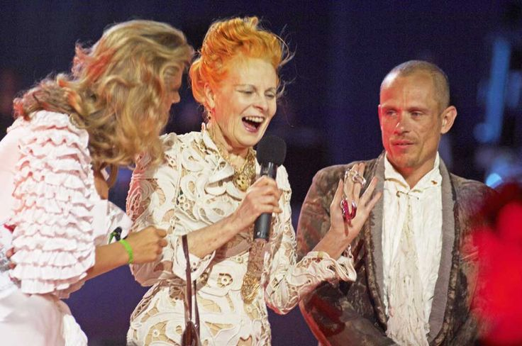 Vivien Westwood presenting the Life Ball Crystal of Hope in Vienna