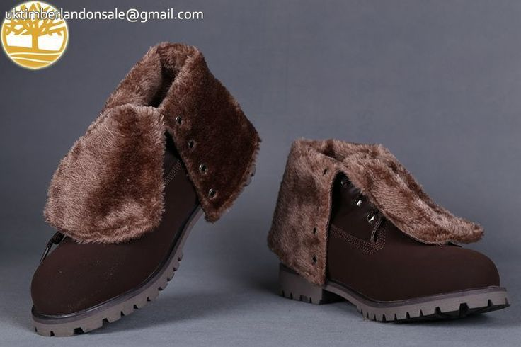 Custom Navy Brown With Wool Timberland Roll Top Anti-Fatigue Men Boots $95.99