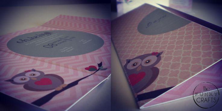 Baby christening invitation_owl