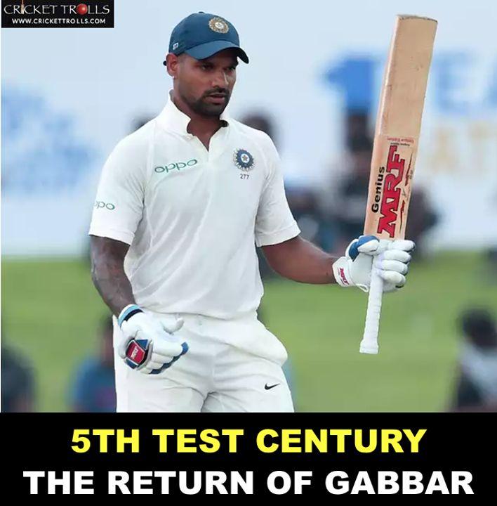 Shikhar Dhawan makes a great comeback! #SLvIND #1stTest For more cricket fun and updates click http://ift.tt/2gY9BIZ - http://ift.tt/1ZZ3e4d