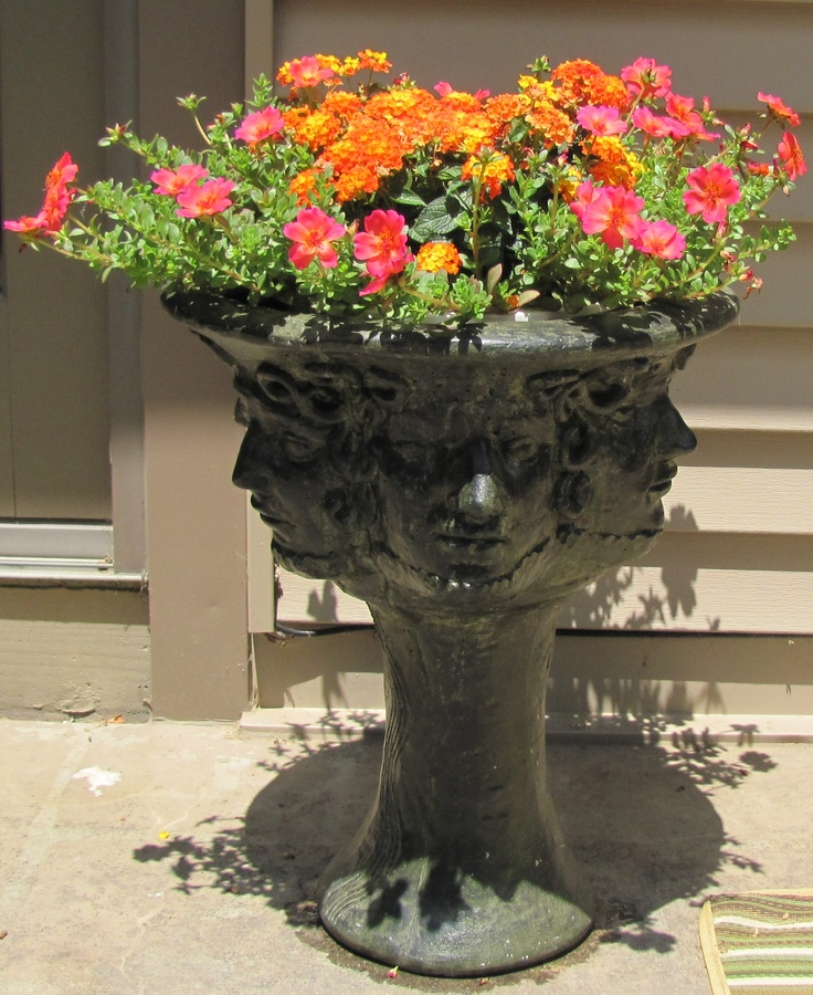 how to make a hypertufa head planter