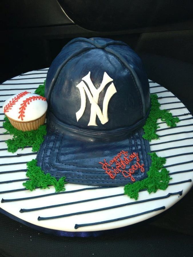 How To Make A Yankee Hat Cake