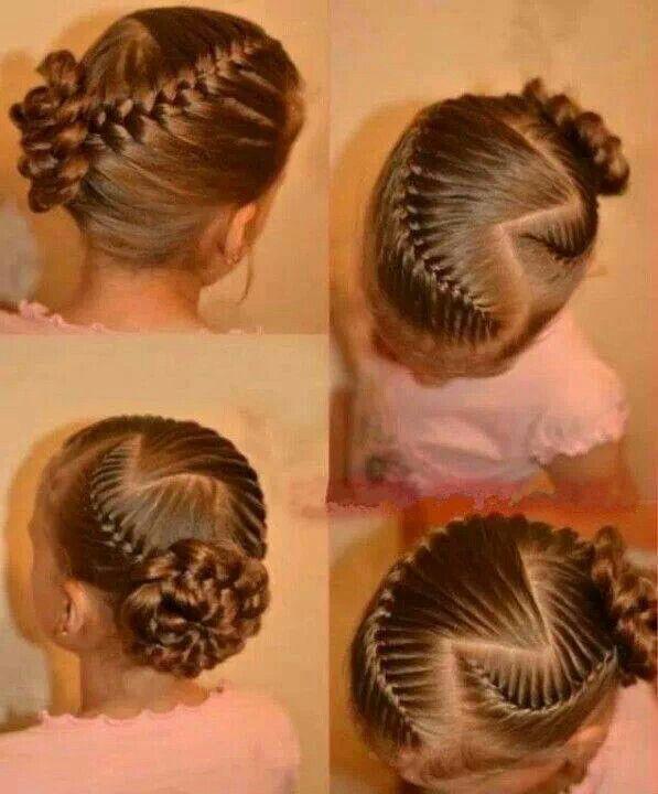 Elaborado y elegante peinado.