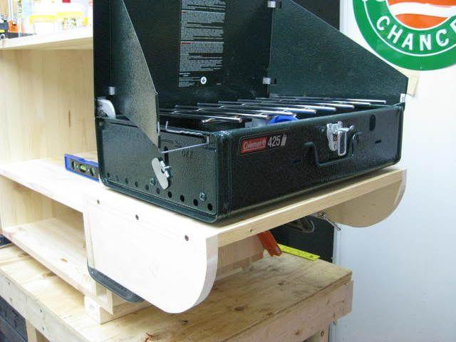 Shelf For Stove Chuck BoxCamping ItemsCamping GearDrawer ShelvesShelf Camping KitchenBoy ScoutsStorage