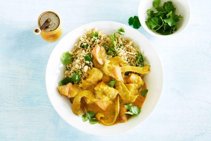 Succesduo: kruidige rijst en romige rode curry.- Recept -Allerhande