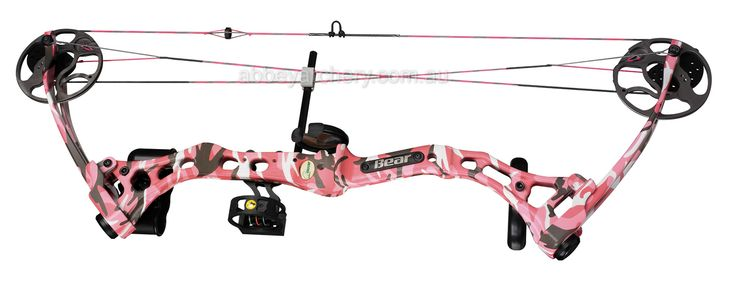 pink camo compound bow <3