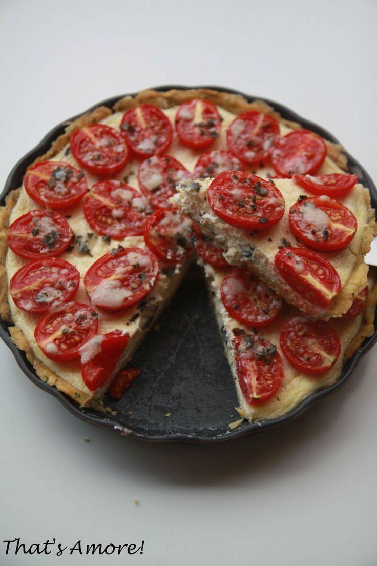 Tarte à la tomate, parmesan & basilic, cheesecake d'olives noires 3