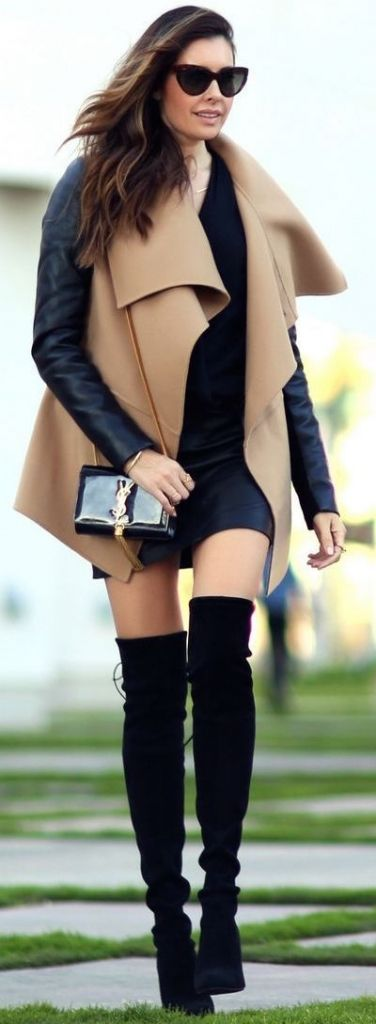 #fall #outfits / camel + leather