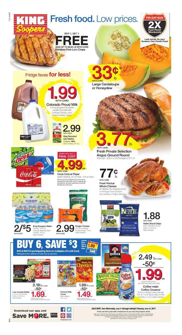 King Soopers weekly ad June 21 - 27, 2017 - http://www.olcatalog.com/grocery/king-soopers-weekly-ad.html