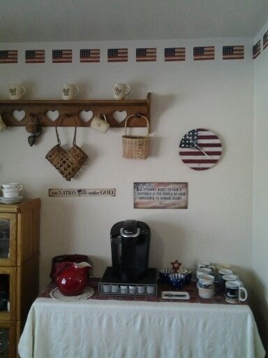 Hanging In My Americana Decorated Dining Room House Decorating