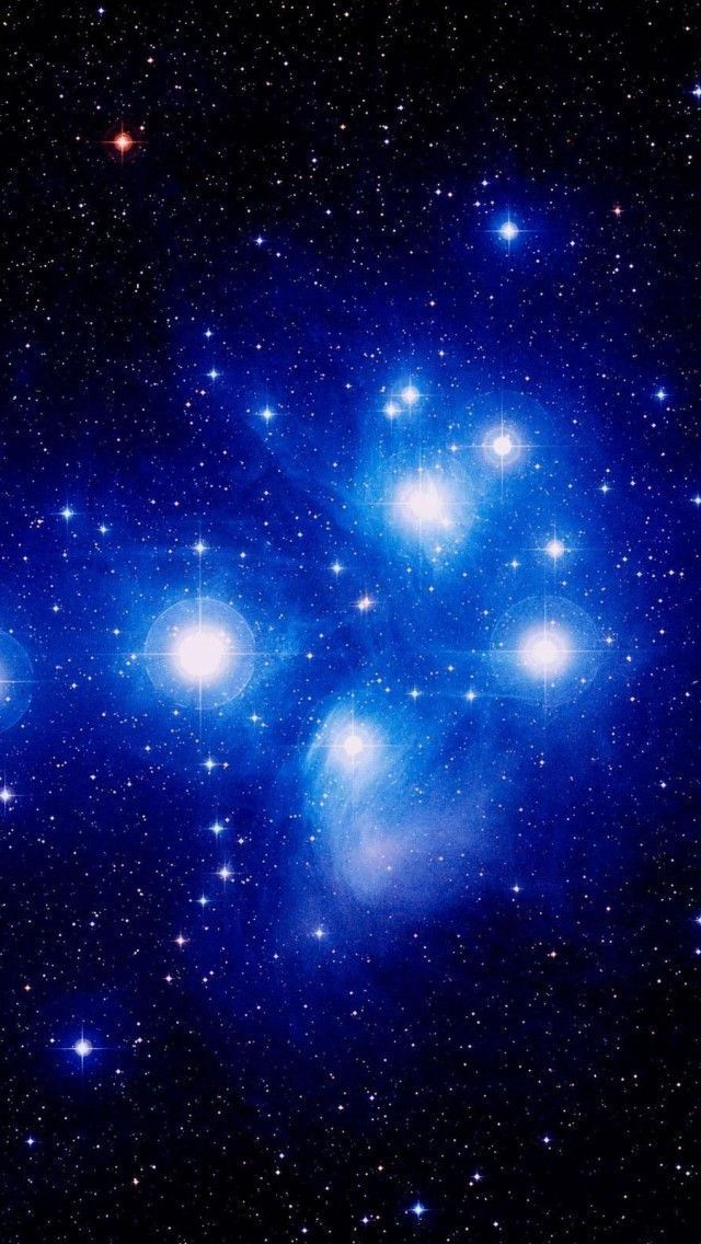 The Seven Sisters (or Pleiades) in the Taurus constellation