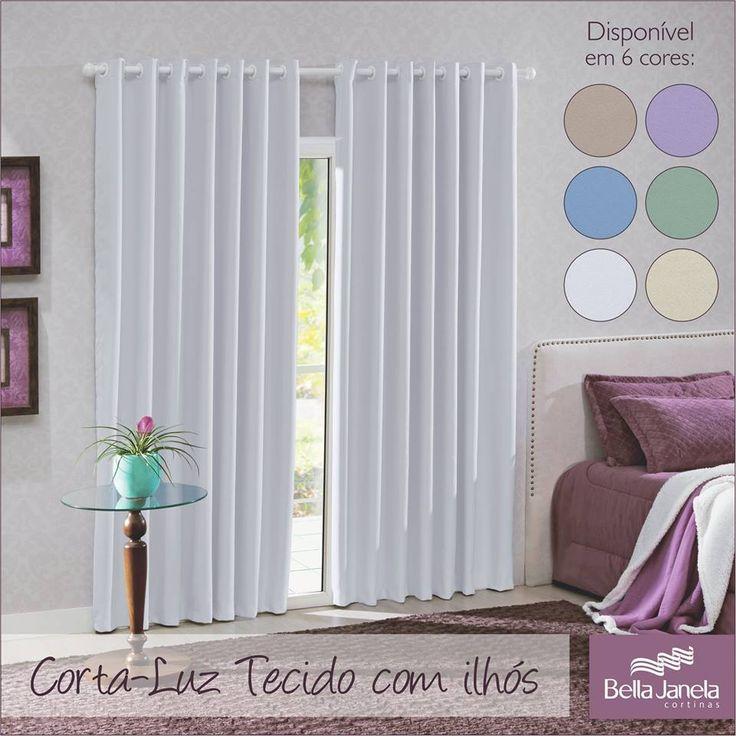 Corta-Luz Tecido em cores para coordenar e harmonizar com todos os ambientes da sua casa!