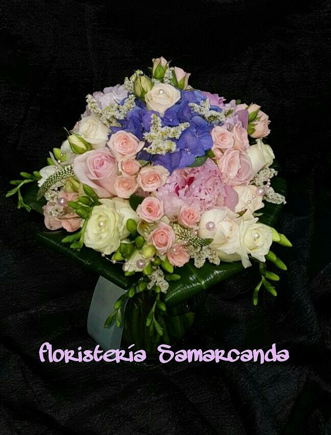 #RamoDeNovia #DetalleAzul #Hortensia #Peonia#Rosa #Fresia #FloristeríaSamarcanda
