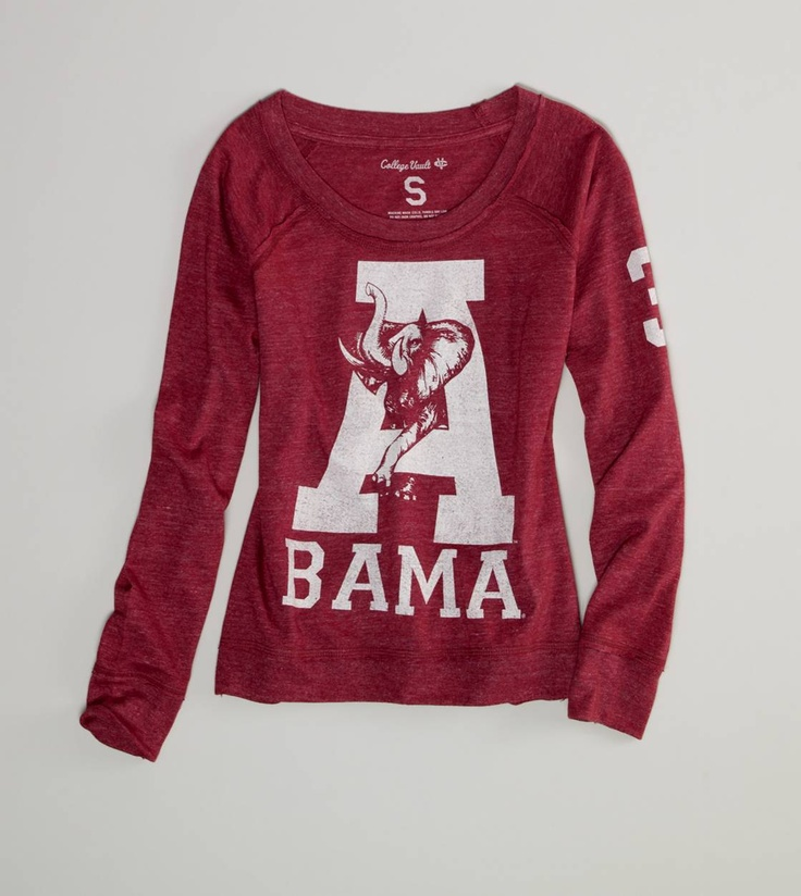 Alabama Vintage Long Sleeve T....when you've been around as long as I have, you still have a few of these in your closet!  Love it!
